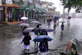 Umbrella in Darjeeling Chowrastha