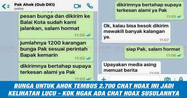WOW, Karangan Bunga Untuk Ahok Melebihi Chat Fitnah, Ini Tantangan AHOK
