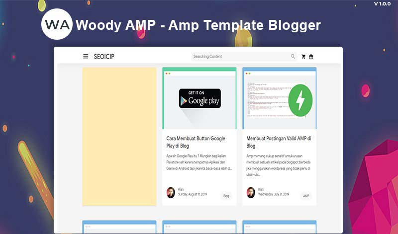 Woody Amp - Template Blogger