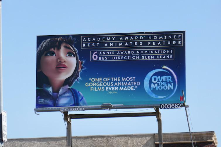 Over the Moon Academy Award nominee billboard