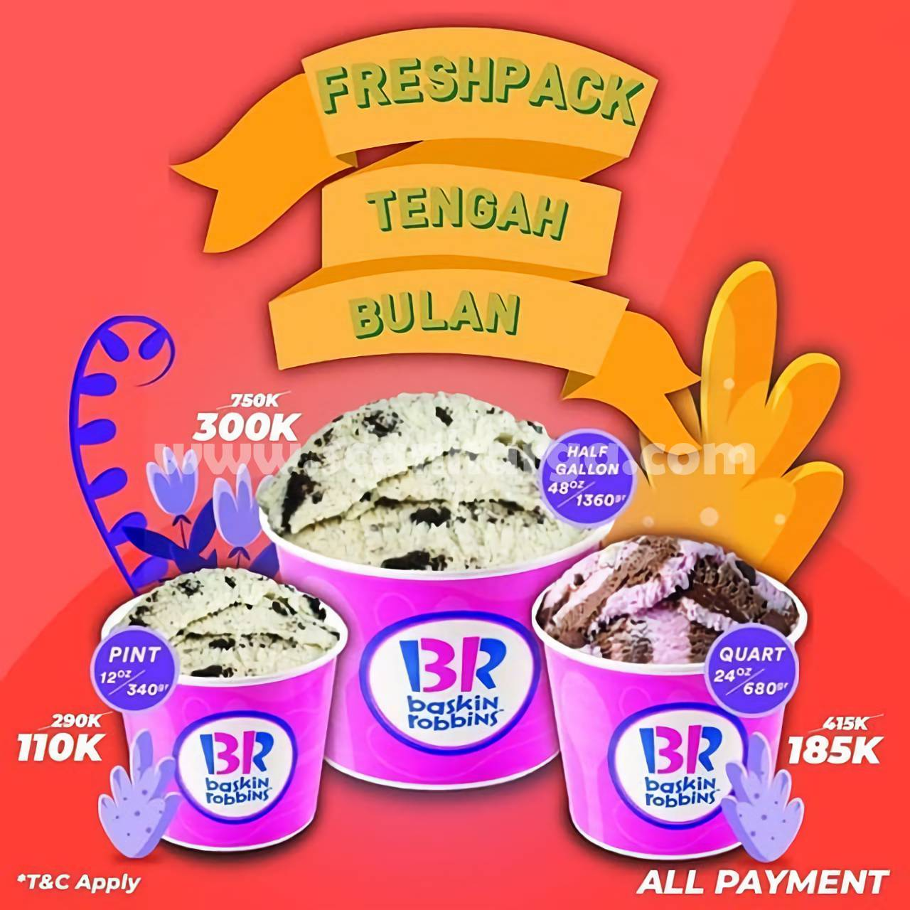 BASKIN ROBBINS Promo FreshPack Tengah Bulan Periode 14 - 20 September 2020