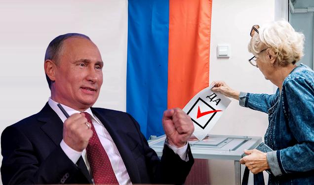 За голосование 2020 г. по поправкам в Конституцию В. Путин лично поблагодарит россиян