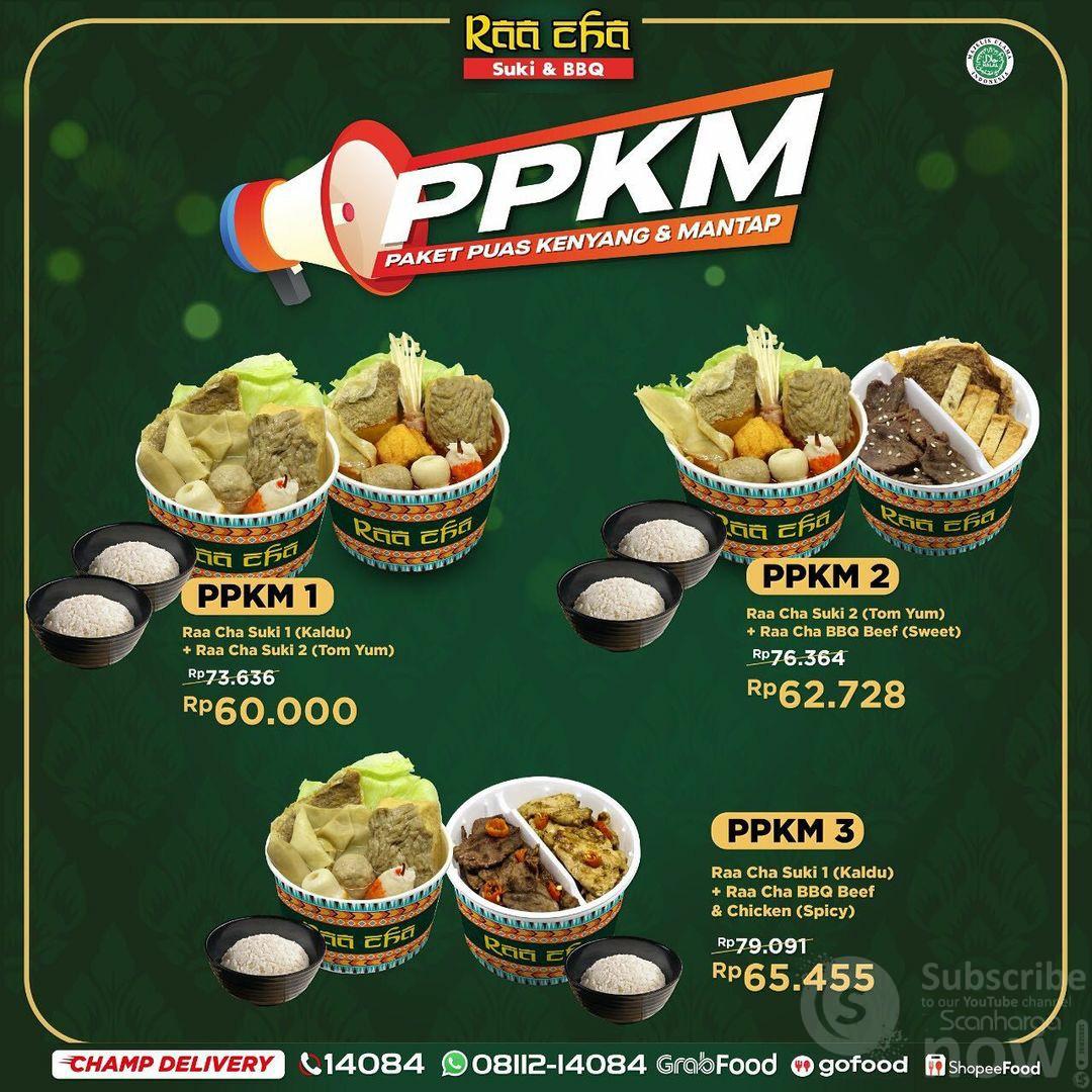 Promo Raa Cha Suki PPKM (Paket Puas Kenyang & Mantap)