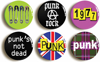 Punk Button Badges set of 6