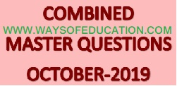 COMBINED MASTER QUESTION OCTOBER-2019 BY DARK HORSE ACADEMY
