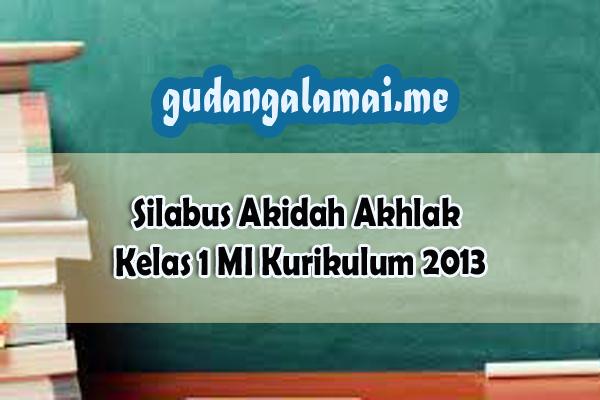 Silabus+Akidah+Akhlak+Kelas+1+MI+Kurikulum+2013