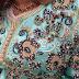 روعة تنبات الجوهر على القفطان المغربي