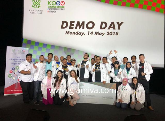 Code Army and cohort @Khazanah Nasional Entrepreneurship Outreach (KNEO) Demo Day, Kuala Lumpur 2018