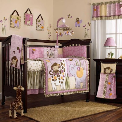 Safari Animal Baby Girl Crib Bedding Set Idea - Best Gift Ideas Blog - Baby Nursery Bedding Ideas