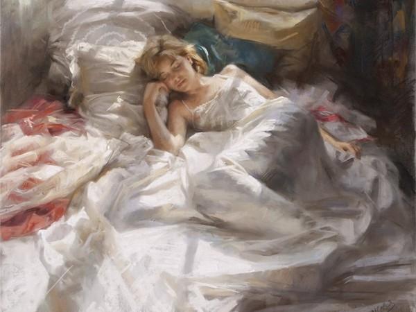 Tableau femme endormie
