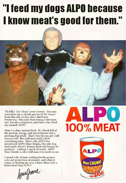 ALPO's got the human flesh that a wolf-man craves!