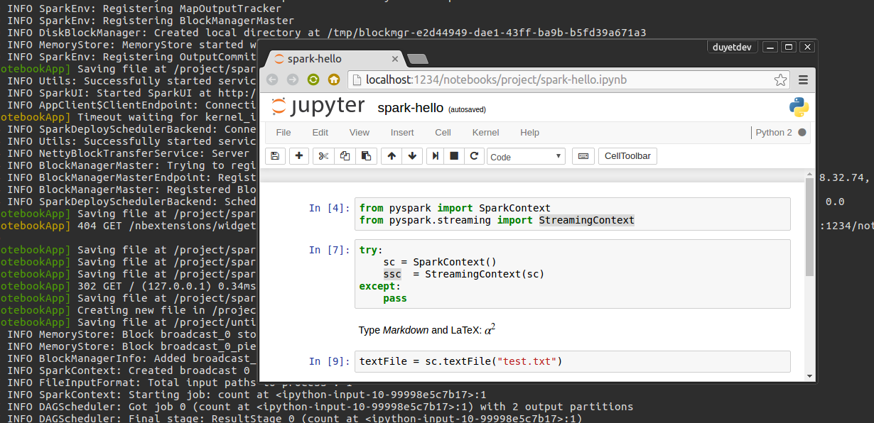 Chạy Apache Spark với Jupyter Notebook
