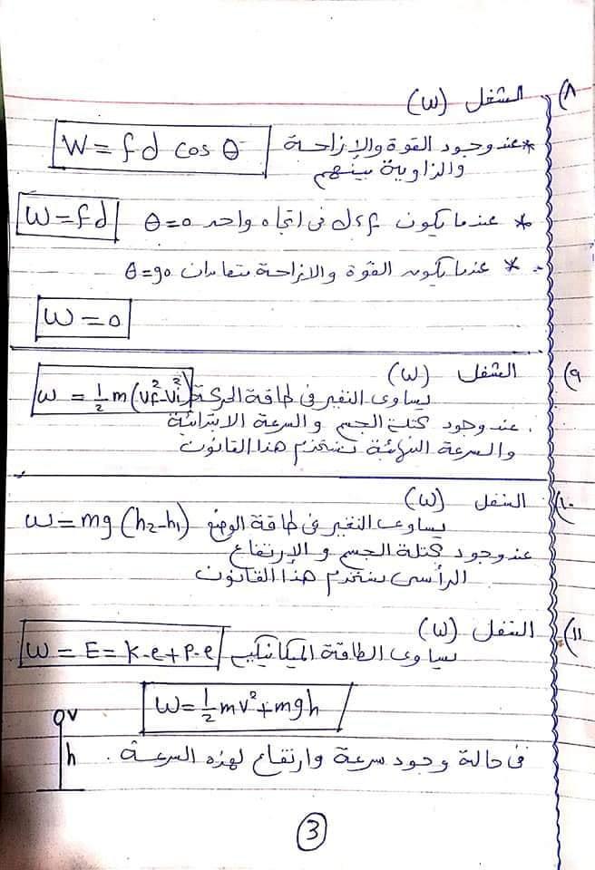 مراجعة كل قوانين الفيزياء اولي ثانوي في ٦ ورقات أ/ امانى منصور 3