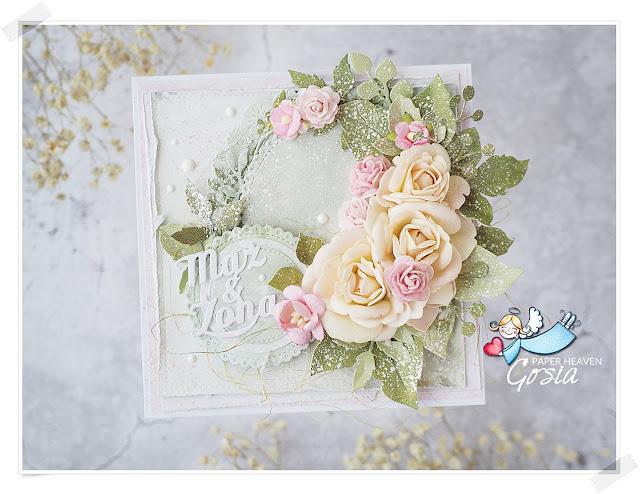 Kartka ślubna kwadratowa