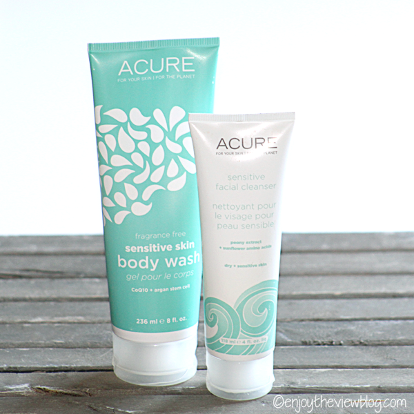 Acure body and face cleansers for sensitive skin
