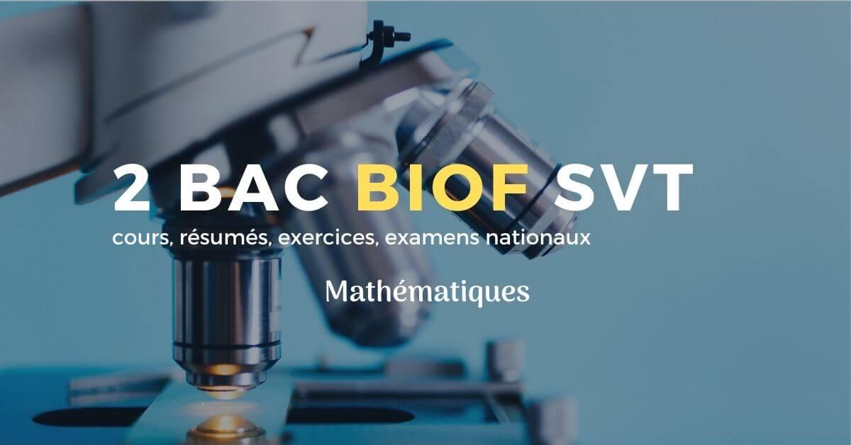 cours math 2 bac svt pdf BIOF