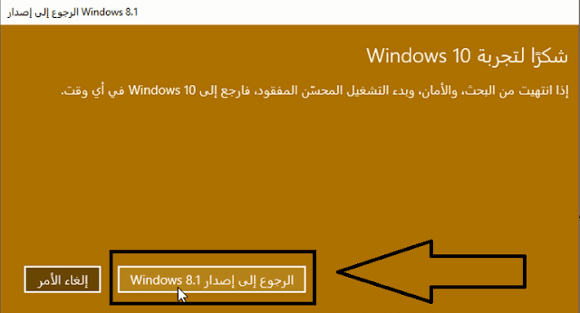 downgrade to windows 8.1 from 10
