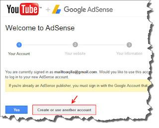 mengaitkan youtube dengan akun adsense beda email