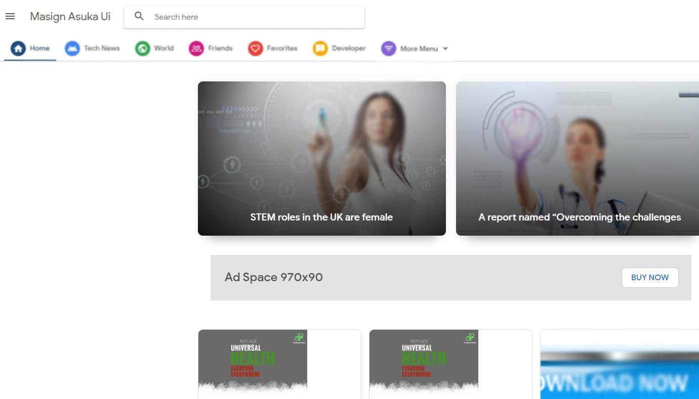 Masign Asuka UI Simple Blogger Template Free Download