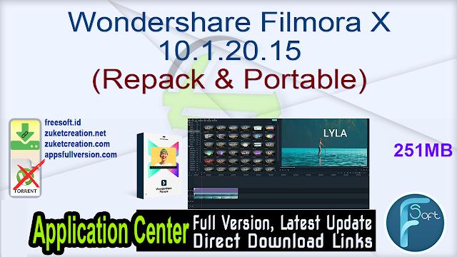 Wondershare Filmora X 10.1.20.15 (Repack & Portable)
