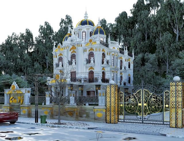Villa Sketchup Exteior Scene , 3d free , sketchup models , free 3d models , 3d model free download