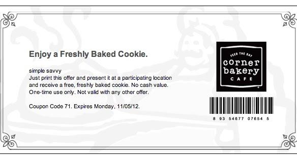 Expired Corner Bakery Coupons
