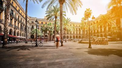 Las hermosas ramblas de Barcelona
