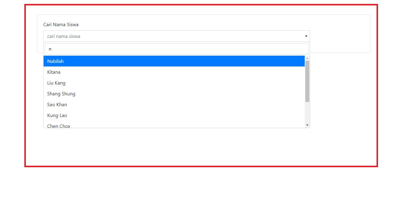 select2 dengan ajax