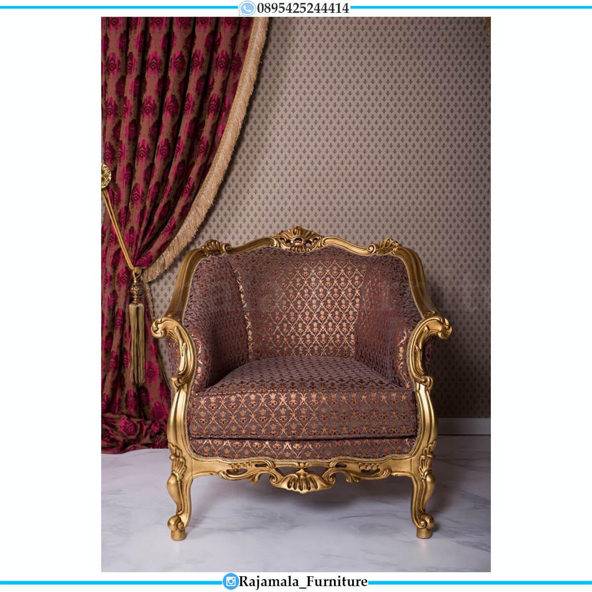 Sofa Tamu Mewah Berkualitas Soft Red Fabric Luxury Design RM-0732