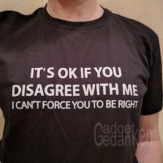 Nerdshirt: Es ist OK eine andere Meinung zu haben