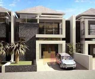 bentuk depan rumah modern:desain model gambar denah rumah
