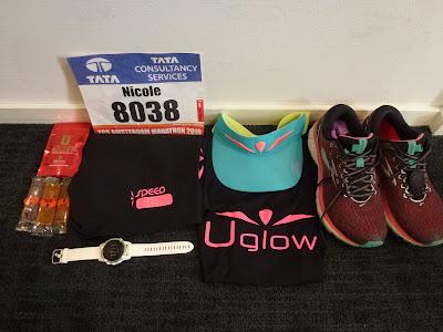 Race outfit - Uglow, Stryd, Garmin Fenix 5S, Tailwind, Caffein Bullets