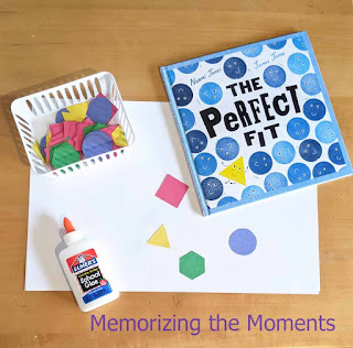 Art activity to go with a lesson about acceptance and diversity with the book The Pefrect Fit