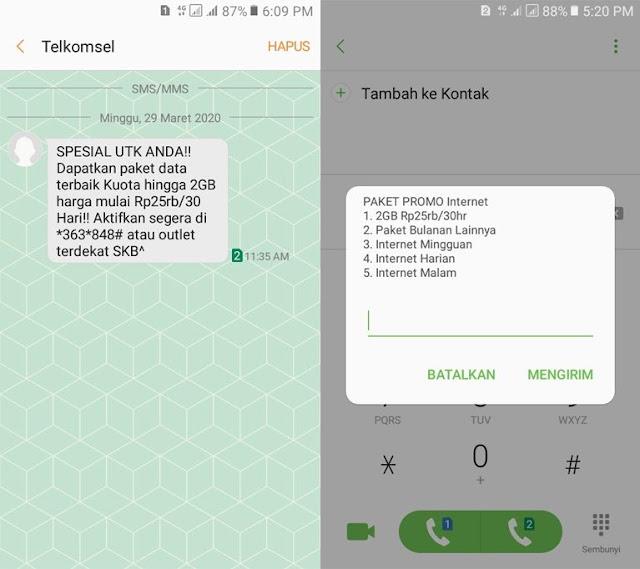 Cara Dapat Paket Internet Telkomsel Murah 2GB 25Ribu