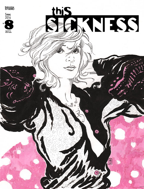 THIS SICKNESS #8 from Bottomless Studio - cover by Molly Kiely