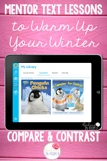 Check out fun and engaging mentor text lesson that uses a fiction and nonfiction book to teach the skill of comparing and contrasting.  These books are both about penguins and can be found on the free website Epic!  Lesson freebie included!  You can also enter to win a copy of each book in the hop.