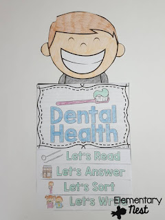 Dental Health Flip Book- February Activities and FREEBIES- activities for primary students- February reading, math, writing, social studies and more! Valentine's Day, Presidents Day, Black History Month, Dental Health Month