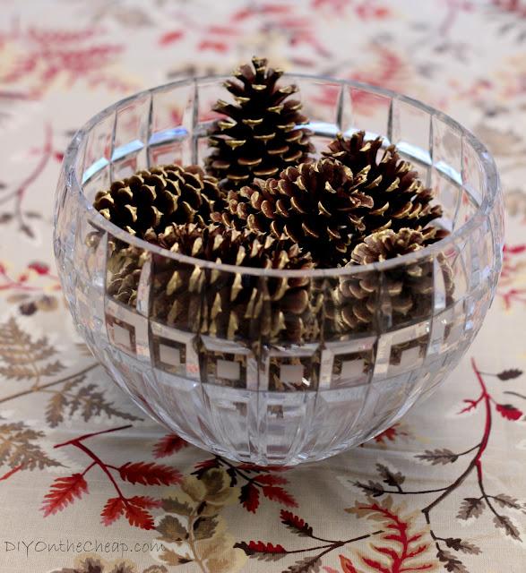 Gilded Pine Cone Centerpiece