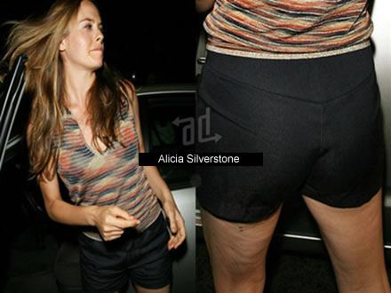 La Actriz Alicia Silverstone con celulitis