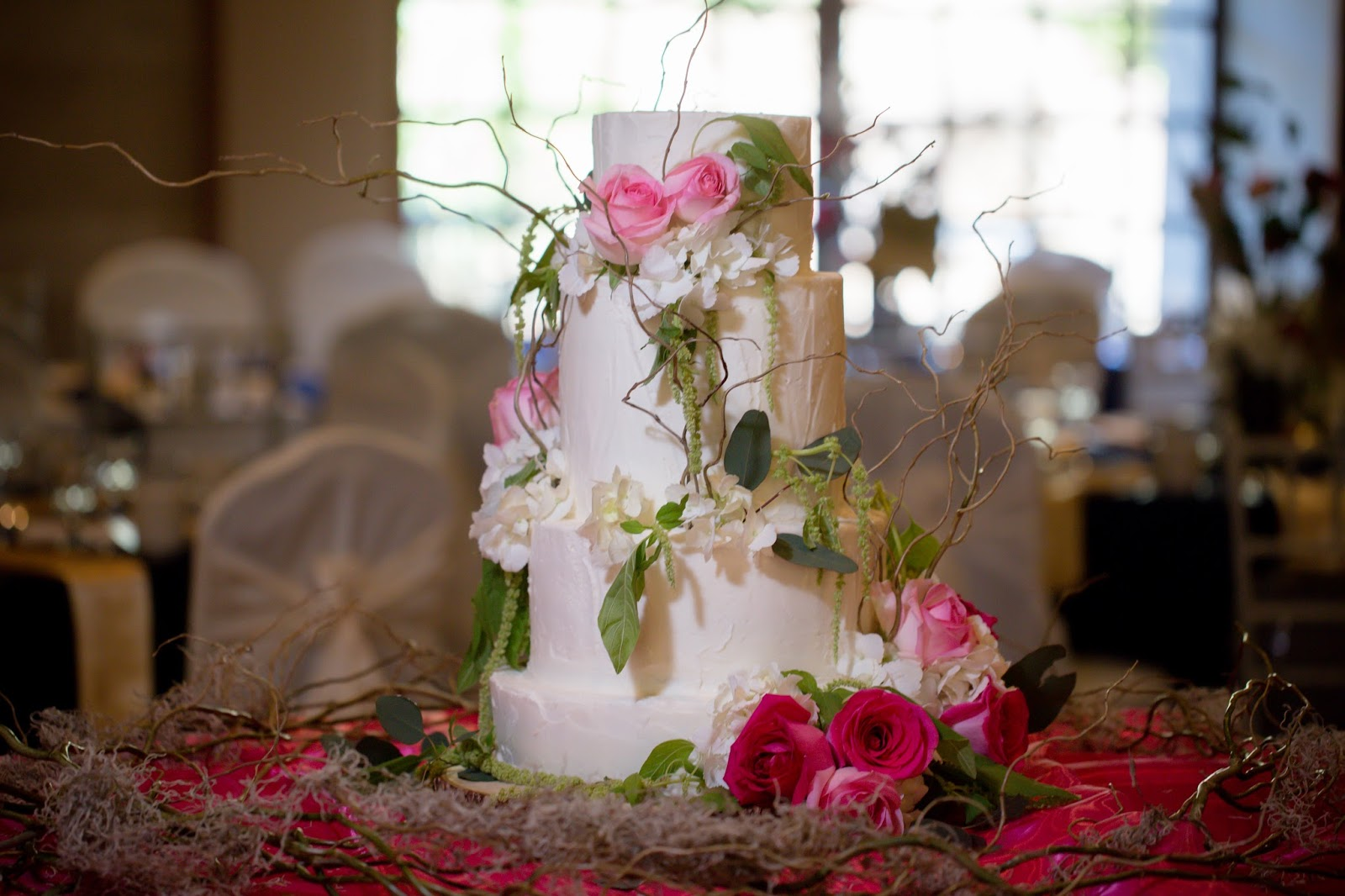 Greek Orthodox Baptism Cake in pink and white