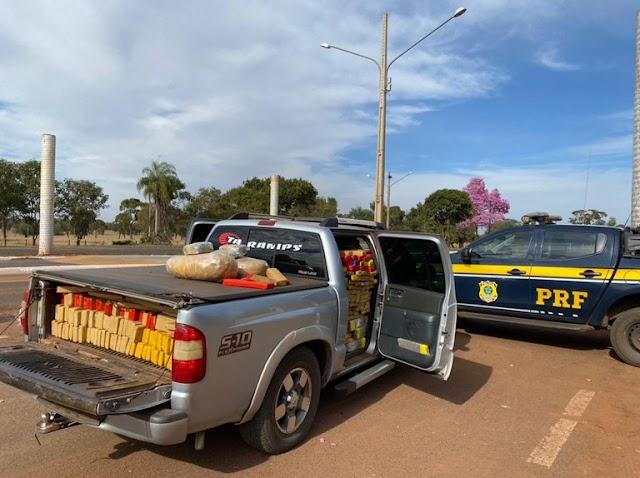 PRF apreende 1,2 tonelada de maconha em Guia Lopes da Laguna (MS)