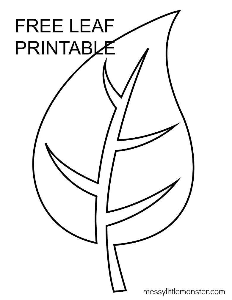 large leaf template
