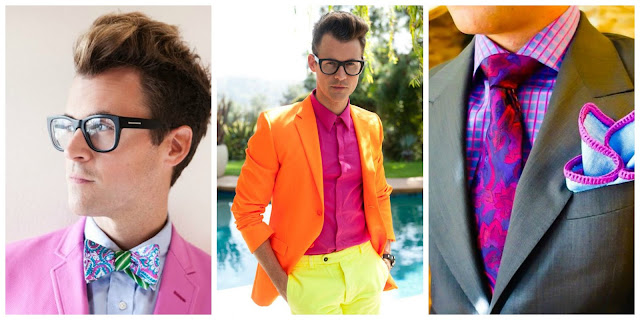 Men outfit neon party blazer