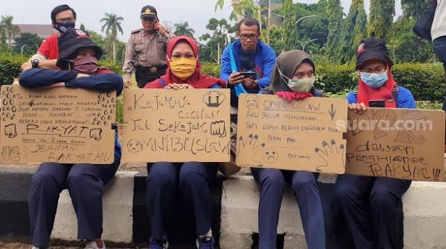 Kedatangan PM Jepang ke Istana Bogor Disambut Demo Besar Satu Tahun Jokowi