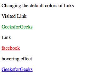 menggubah tampilan warna dari link dengan menggunakan css