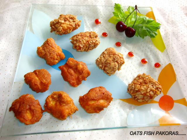 Oats Fish Pakora / Fish Pakoras/ Fish Fritters Recipe / Desi Battered Fish / Fish Pakoras Recipe