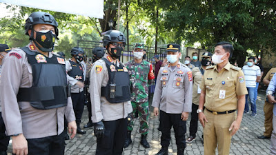 Kapolresta Tangerang Pimpin PAM Pemungutan Saura Pemilihan Kades PAW