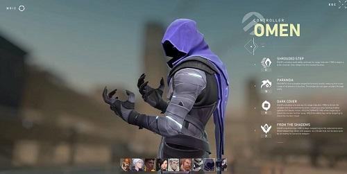 Bộ kỹ năng của nhân vật Omen