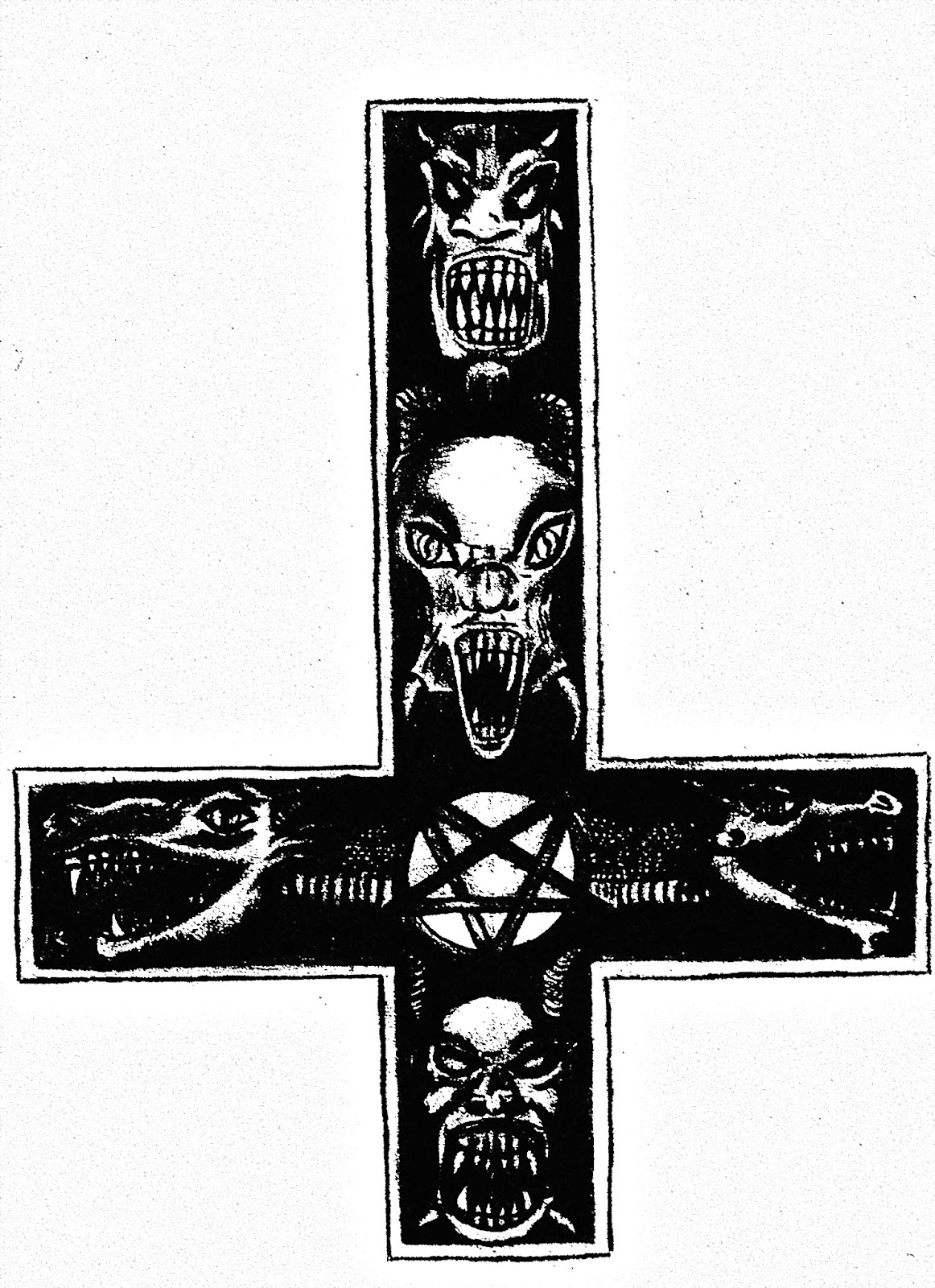 Satanism in the vatican the inverted cross al faedah the baphomet is the official symbol of the church of satan but many satanists use the inverted cross to symbolize their dislike of christianity biocorpaavc Images