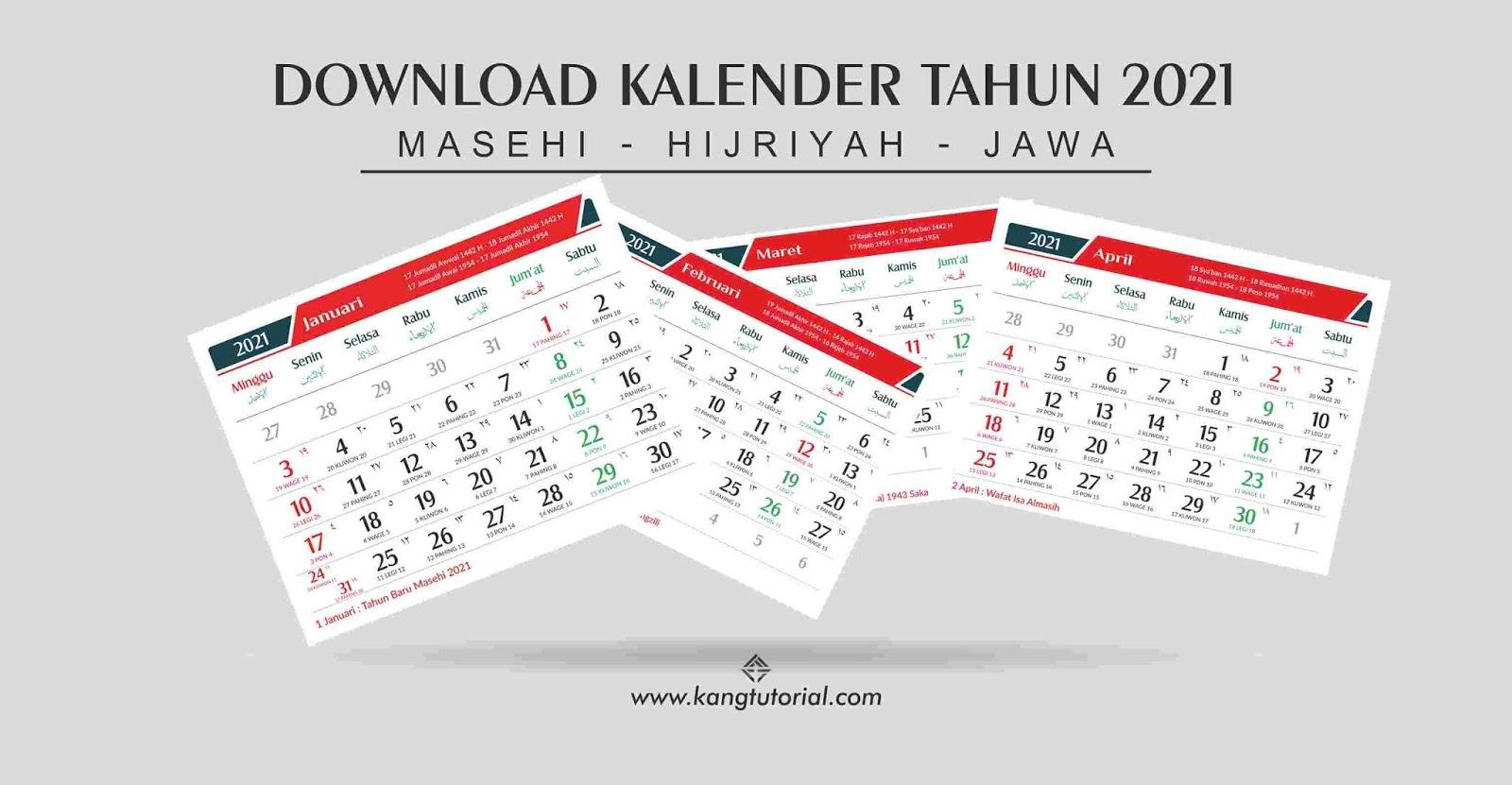 Download Kalender 2021 Excel Indonesia